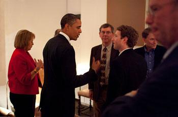 Zuckerberg y Obama