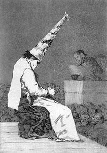 Dibujo Capricho de Francisco de Goya