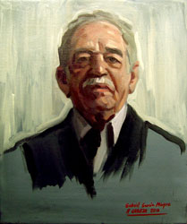 Retrato óleo Gabriel García Márquez