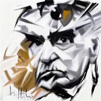 García Márquez pintura al óleo