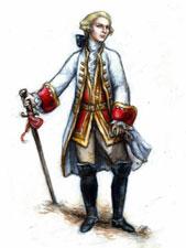 dibujo imaginario del Marqués de Sade