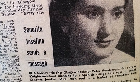 Señorita Josefina envía un mensaje
