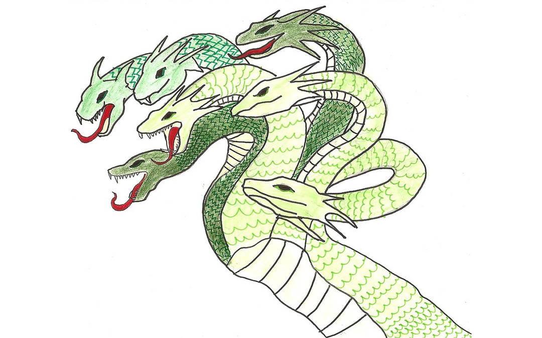 La serpiente escondida