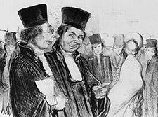 Dibujo de abogados por Honoré Daumier