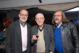 Jorge Ariel Madrazo con Jotamario Arbeláez y Samuel Jaramillo