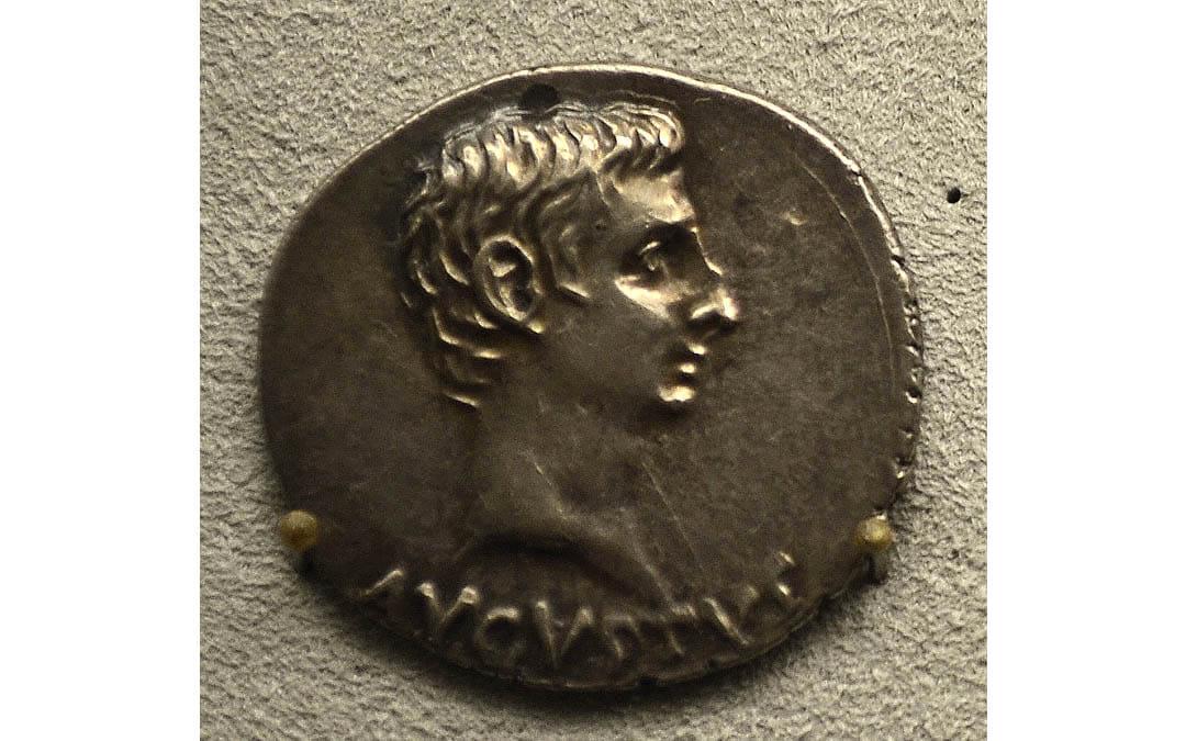 Una moneda romana en la cordillera Patagónica