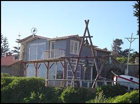 La casa de Pablo Neruda, en Isla Negra