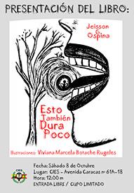 Cartel presentación libro Jeisson Ospina