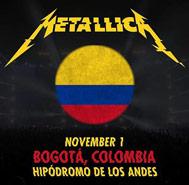 metallica Colombia 1 de noviembre