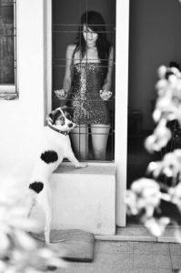 yamila greco en el jardín