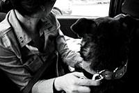 Yamila Greco y su perro
