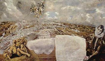 El Greco Vista y plano de Toledo