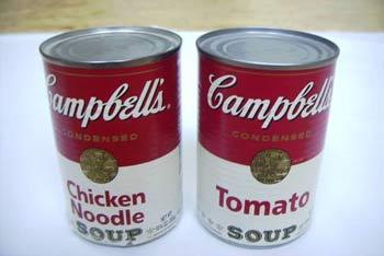 Latas Campbell's artículo Andy Warhol