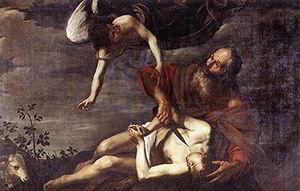 Pintura Sacrificio de Isaac