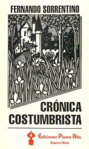 Tapa libro Crónica costumbrista
