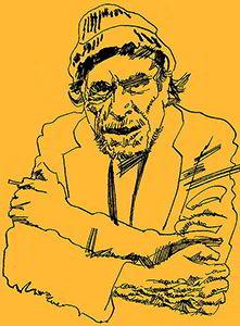 Dibujo de Charles Bukowski