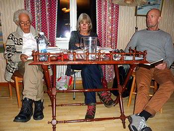 Julián Vásquez, Agneta Pleijel y Ulf Eriksson