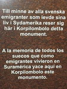 Monumento emigrantes Korpilombolo
