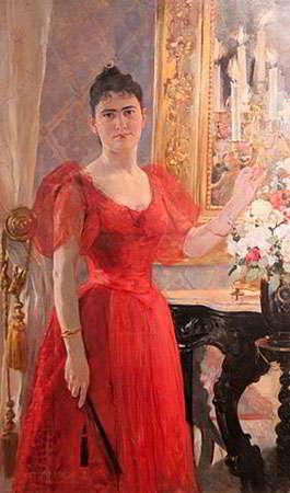Retrato de Lastenia Tello, por Arturo Michelena