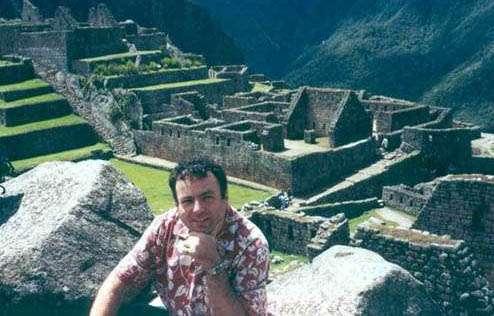 Manuel Lozano en Machu Picchu